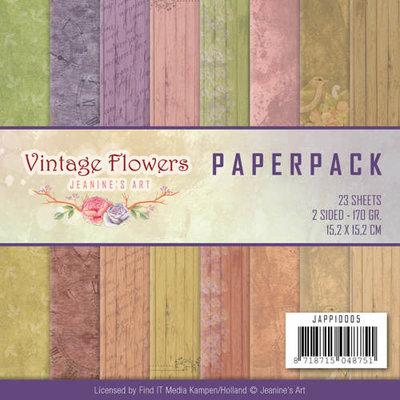 JAPP10005 - Paperpack - Jeanine Art - Vintage Flowers