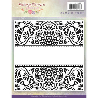 JAEMB10005 - Embossingfolder - Jeanine's Art - Vintage Flowers - 15.2x15.4