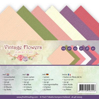 JA-4K-10005 - Linnenpakket - 4K - Jeanine's Art - Vintage Flowers