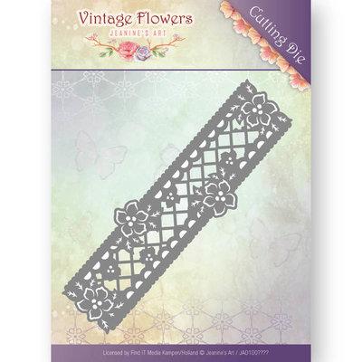 JAD10033 - Dies - Jeanine's Art - Vintage Flowers - Floral Border - 4,3x13,5cm