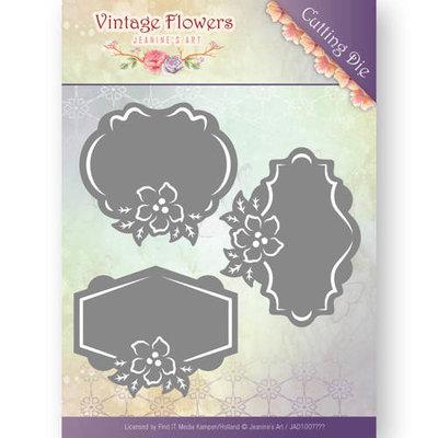 JAD10036 - Dies - Jeanine's Art - Vintage Flowers - Floral Labels