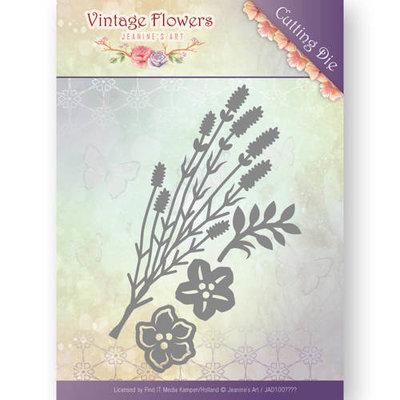 JAD10037 - Dies - Jeanine's Art - Vintage Flowers - Vintage Foliage - 5,2x8,9cm