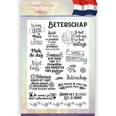 JACS10014 - Clearstamp - Jeanine's Art - Vintage Flowers NL