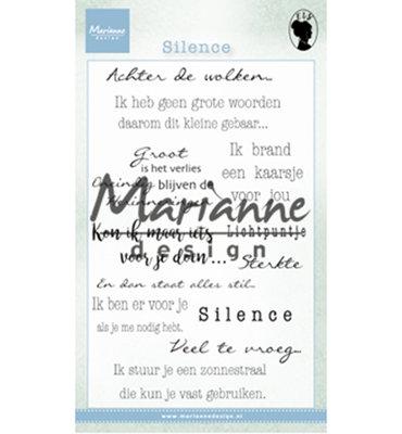 EWS2224 - Marianne Design - Clear Stamps - Teksten - Silence NL