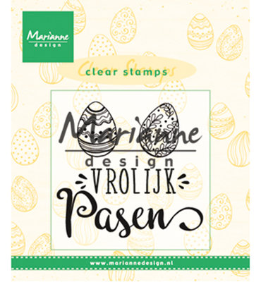 CS1001 - Marianne Design - Clear Stamps - Vrolijk Pasen - NL