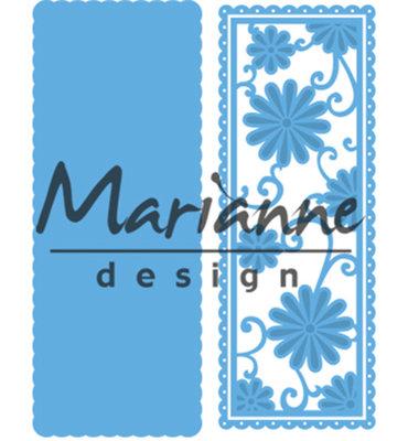 LR0516 - Marianne Design - Creatables - Anja's Flower Rectangle - 54x139mm