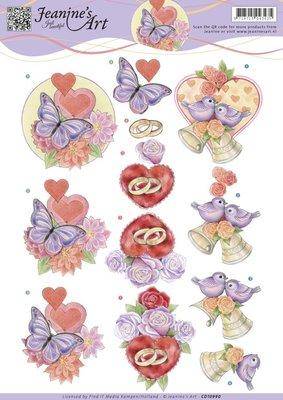 CD10990 - Knipvel - Jeanines Art - Love and Wedding