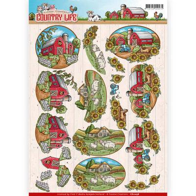 CD11058 - 3D Knipvel - Yvonne Creations - Country Life - Farm House