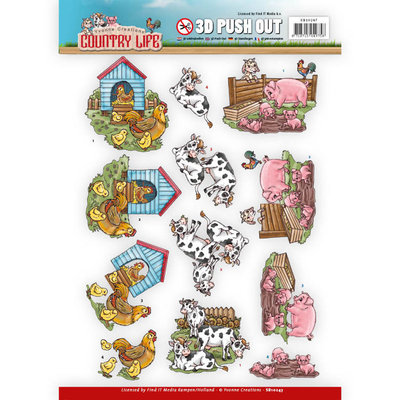 SB10247 - Push Out - Yvonne Creations Country Life Farm Animals