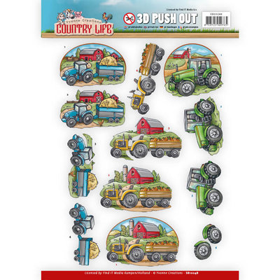 SB10248 - Push Out - Yvonne Creations Country Life Tractors