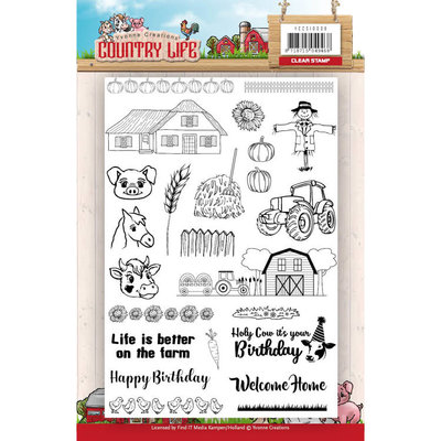 YCCS10039 - Clearstamp - Yvonne Creations - Country Life