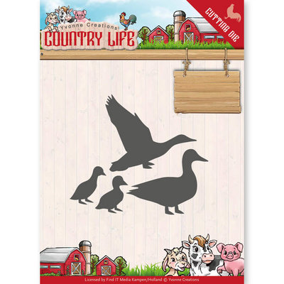 YCD10126 - Dies - Yvonne Creations - Country Life Ducks