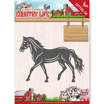 YCD10127 - Dies - Yvonne Creations - Country Life Horse