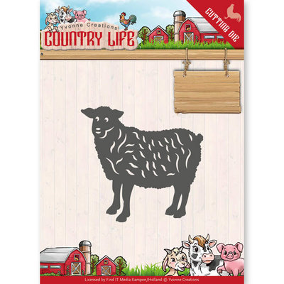 YCD10129 - Dies - Yvonne Creations - Country Life Sheep