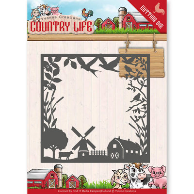 YCD10123 - Dies - Yvonne Creations - Country Life Country Life Frame