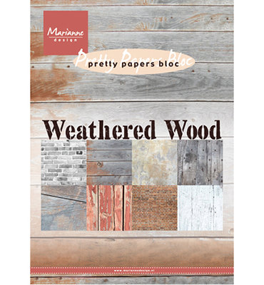 PK9155 - Marianne Design - Pretty Paper Bloc - Weathered wood - A5