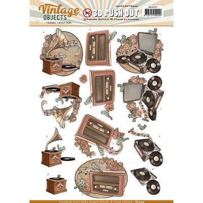 SB10253 - Push Out - Yvonne Creations - Vintage Objects - Vintage Music