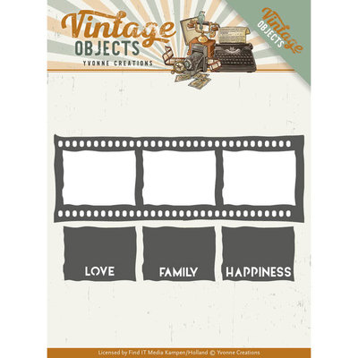 YCD10133 - Dies - Yvonne Creations - Vintage Objects - Film Strip