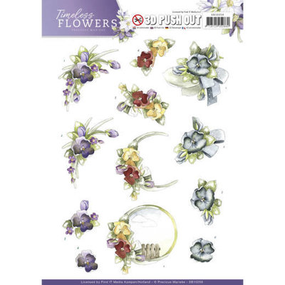 SB10259 - Push Out - Precious Marieke - Timeless Flowers - Violets