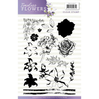 PMCS10027 - Clearstamp - Precious Marieke - Timeless Flowers