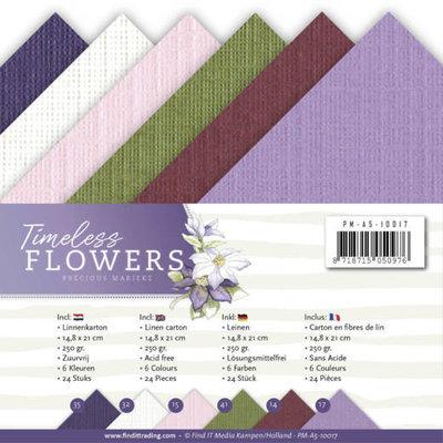 PM-A5-10017 Linnenpakket - A5 - Precious Marieke - Timeless Flowers