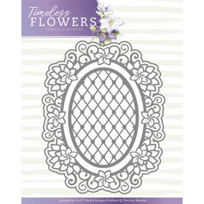 PM10119 - Dies - Precious Marieke - Timeless Flowers - Clematis Oval