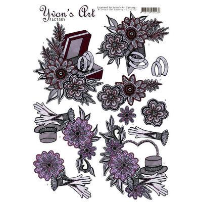 CD11103 - 3D knipvel - Yvon's Art Factory - Married