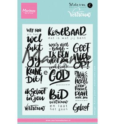 KJ1725 - Marianne Design - Clear Stamp - Karin Joan - Vertrouwen