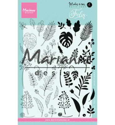 KJ1723 - Marianne Design - Clear Stamp - Karin Joan - Folia