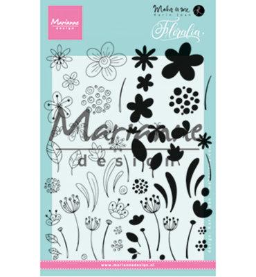 KJ1722 - Marianne Design - Clear Stamp - Karin Joan - Floralia
