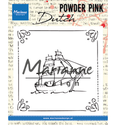 PP2806 - Marianne Design - Clear Stamp - Powder Pink – Sailboat - 82x82mm