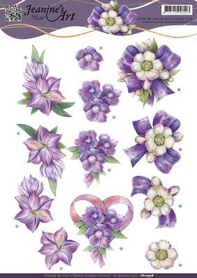 CD10978 - 3D knipvel - Jeanine's Art - Think Purple