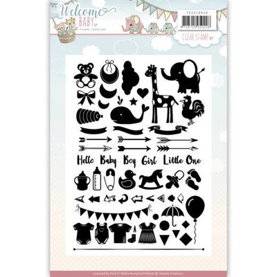 YCCS10040 - Clearstamp - Yvonne Creations - Welcome Baby