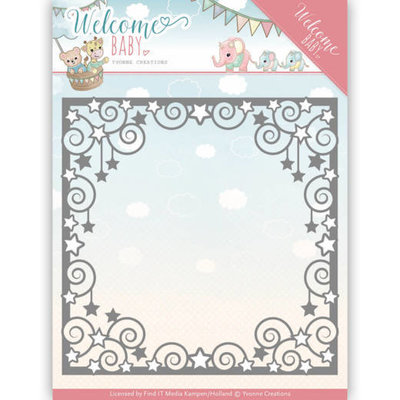 YCD10135 - Dies - Yvonne Creations - Welcome Baby - Star Frame