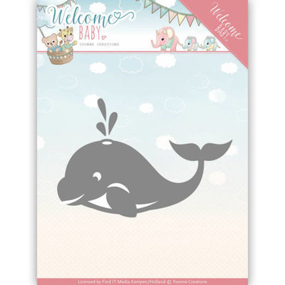 YCD10139 - Dies - Yvonne Creations - Welcome Baby - Little Orca