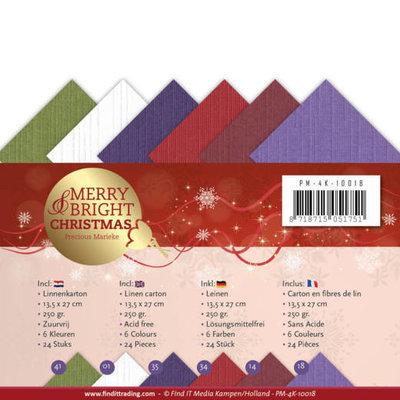 PM-4K-10018 Linnenpakket - 4K - Precious Marieke - Merry and Bright Christmas