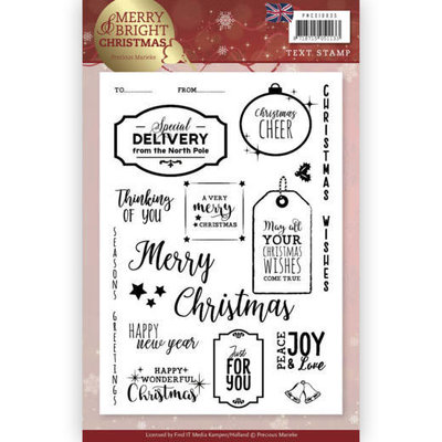 PMCS10035 - Clear Stamp - Precious Marieke - Merry and Bright Christmas - ENG