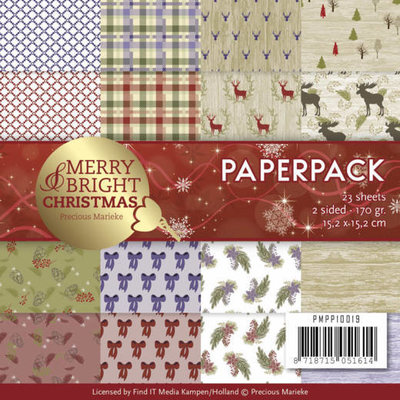 PMPP10019 - Paperpack - Precious Marieke - Merry and Bright Christmas