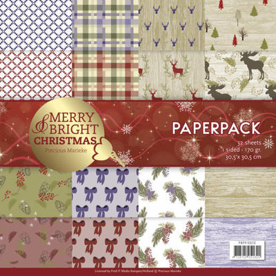 PMPP10020 - Paperpack - Precious Marieke - Merry and Bright Christmas