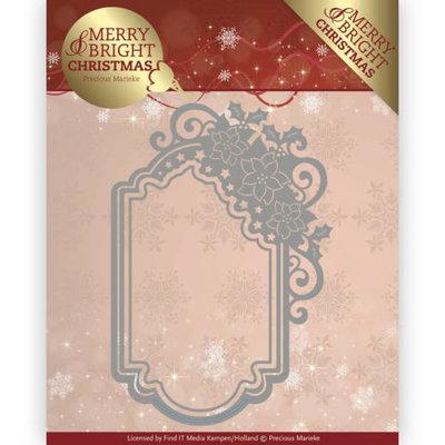 PM10127 - Dies - Precious Marieke - Merry and Bright Christmas - Poinsettia Ornament