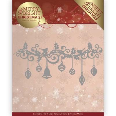 PM10128 - Dies - Precious Marieke - Merry and Bright Christmas - Christmas Garland