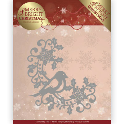 PM10130 - Dies - Precious Marieke - Merry and Bright Christmas - Bird Corner