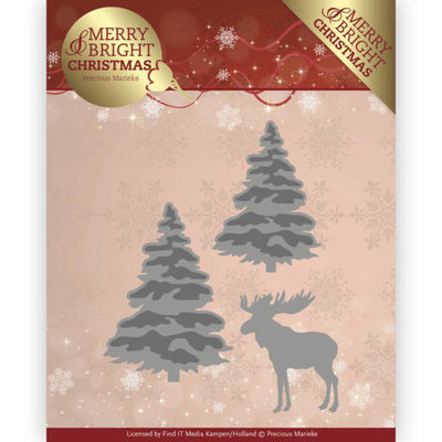 PM10131 - Dies - Precious Marieke - Merry and Bright Christmas - Forest