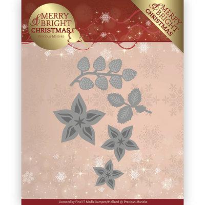 PM10132 - Dies - Precious Marieke - Merry and Bright Christmas - Christmas Florals