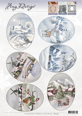 CD11144 - 3D Topper - Amy Design - Winter Landscapes