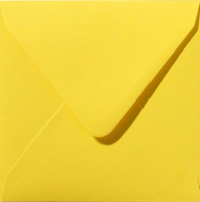 Enveloppen vierkant 14x14 10 stuks Geel (120gr.)