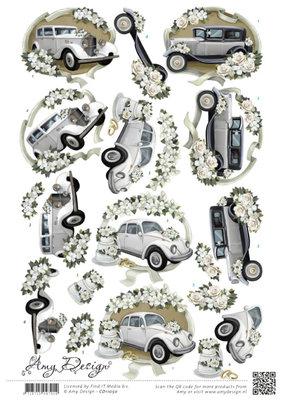 CD11050 - 3D knipvel - Amy Design - Wedding Cars