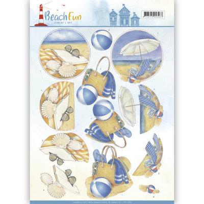 CD11069 - 3D knipvel - Jeanine's Art - Beach Fun - Relax