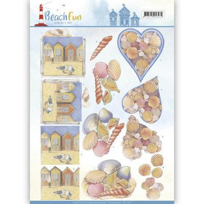 CD11070 - 3D knipvel - Jeanine's Art - Beach Fun - Seashells