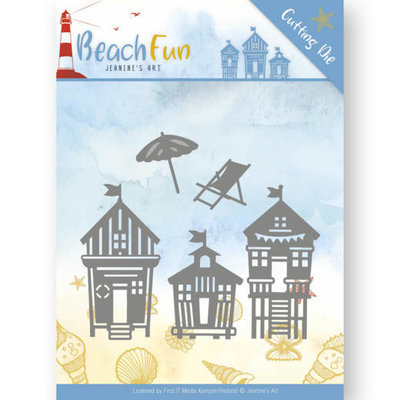 JAD10040 - Dies - Jeanine's Art - Beach Fun - Beach Houses